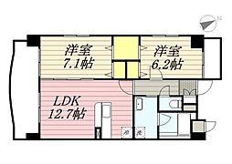 仮称)港3丁目マンション新築工事[6階]の間取り