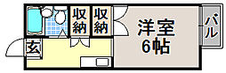 京都府京都市北区紫野中柏野町の賃貸アパートの間取り
