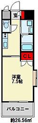 リファレンス小倉駅前[4階]の間取り