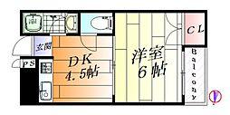 千里丘センターハイツ[3階]の間取り