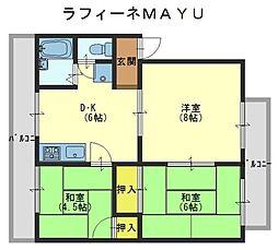 ラフィーネMAYU[2階]の間取り