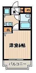 神奈川県横浜市神奈川区三ツ沢上町の賃貸マンションの間取り