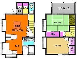 [一戸建] 東京都中野区上高田1丁目 の賃貸【/】の間取り