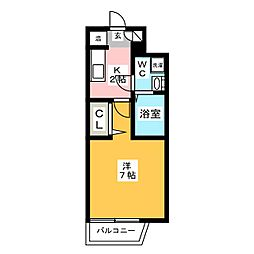 パンルネックスクリスタル博多駅南II[5階]の間取り