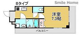 TOYOTOMi STAY Premium 天王寺公園南III 3階1Kの間取り
