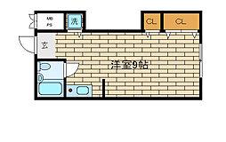 兵庫県神戸市須磨区磯馴町5丁目の賃貸アパートの間取り