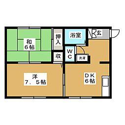 セゾンハイム[1階]の間取り