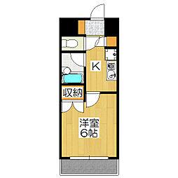 ピュア衣笠[306号室]の間取り