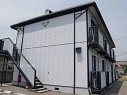 広島県福山市神辺町字湯野の賃貸アパートの外観