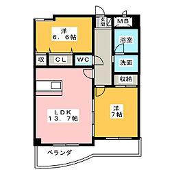 コンフォート五反田[2階]の間取り