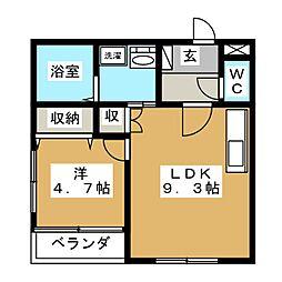 GARDEN MIYAKOI[1階]の間取り