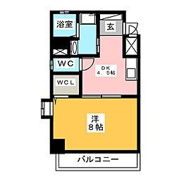 プロビデンス栄南[2階]の間取り