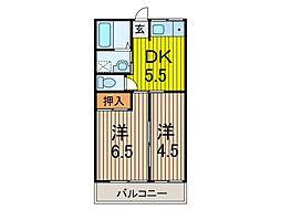 メゾン秋葉[2階]の間取り