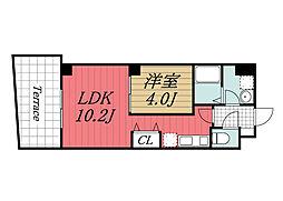 JR京葉線 稲毛海岸駅 徒歩14分の賃貸マンション 1階1LDKの間取り