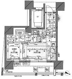 ピアース渋谷WEST 4階1LDKの間取り