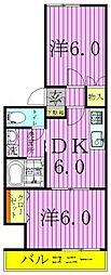 東京都足立区梅田4丁目の賃貸アパートの間取り