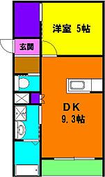 静岡県浜松市浜北区沼の賃貸マンションの間取り
