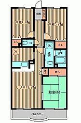 洋光台山の手マンション[0201号室]の間取り