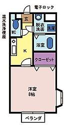 メゾンドパルテール[1階]の間取り