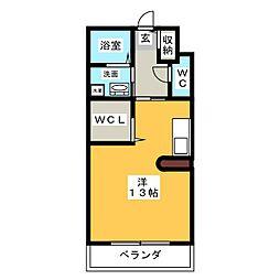 ロルム[2階]の間取り