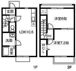 OHANA A棟[105号室]の間取り