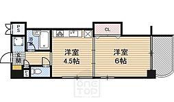 フェリーチェ江坂マンション[2階]の間取り