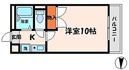 CPF 2階1Kの間取り
