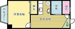 富士ハイツ[203号室]の間取り