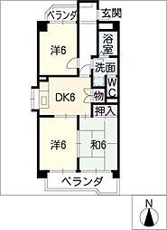 スターライトM[2階]の間取り