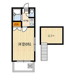 静岡県静岡市葵区古庄3丁目の賃貸アパートの間取り