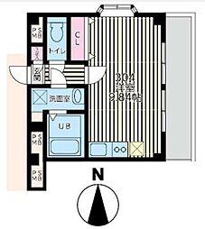 ライフピアモア元町[304号室]の間取り