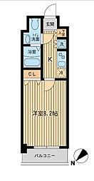 ライジングプレイス船橋宮本[3階]の間取り