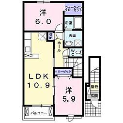 グランシャリオ・B[2階]の間取り