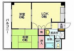 SUE STATIONハイツ[2階]の間取り