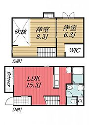 [テラスハウス] 千葉県千葉市中央区千葉寺町 の賃貸【/】の間取り