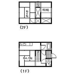 川口アパート[3号室]の間取り