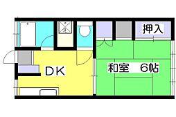 巴第二コーポ[2階]の間取り