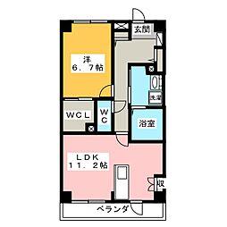 エクレール桶狭間 A棟[3階]の間取り