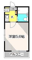 東京都東久留米市浅間町3の賃貸アパートの間取り