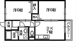 サンモール板原[1階]の間取り