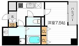レジディア江戸堀[13階]の間取り