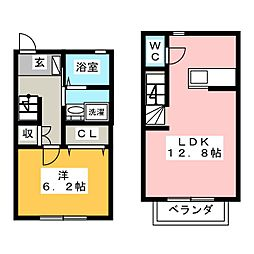 ARPEGE B棟[1階]の間取り