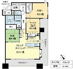 ベレーサ鶴舞公園[12階]の間取り