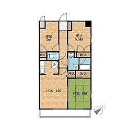 緑の森ハウス[5階]の間取り