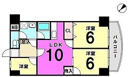 ロジュマン興宮[110号室]の間取り