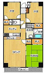 カーサ・フィヨーレ1[3階]の間取り
