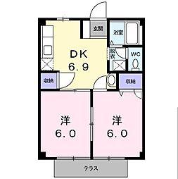 第二常磐荘[1階]の間取り