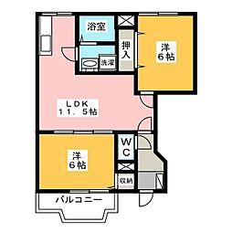 サンヴィレッジ I II[1階]の間取り