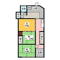 江川町貸家[1階]の間取り