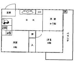 第5菊屋ビル[4E号室]の間取り